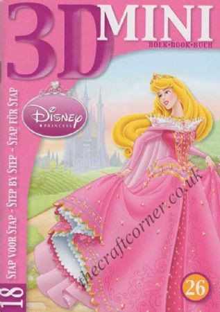 Disney Princesses 18 Designs Mini 3D Decoupage Book